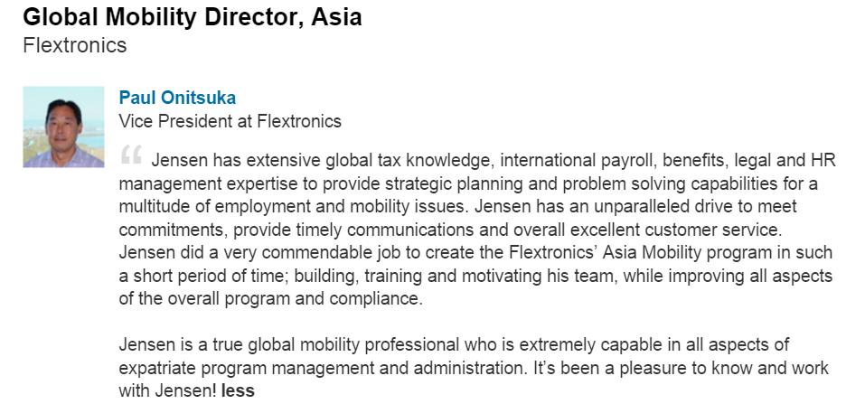 Testimonial: Flextronics Vice President