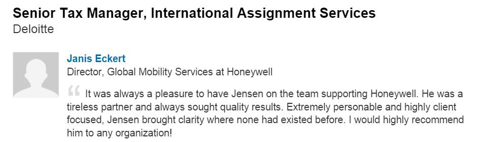 Testimonial: Honeywell Director